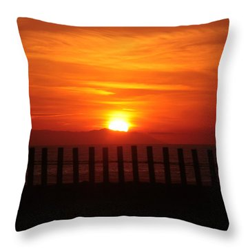 Bolsa Chica Sunset Throw Pillow by Joanne Coyle