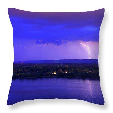 Bolt Over Gatineau Hills  Throw Pillow