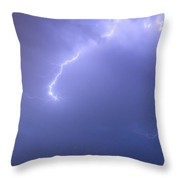 Bolts Of Lightning Arcing Through The Night Sky Throw Pillow by James BO  Insogna