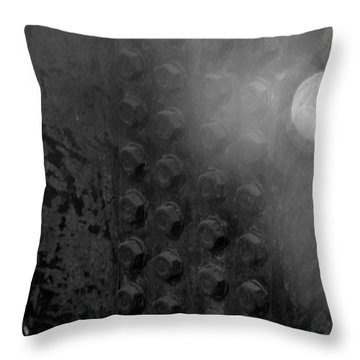 Bolts On The Trident In Black And White Throw Pillow by Rob Hans