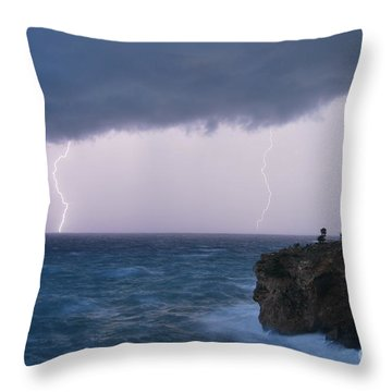 Throw Pillow featuring the photograph Bolts On The Water by Erhan OZBIYIK