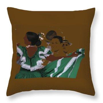 Bomba Dancers Throw Pillow