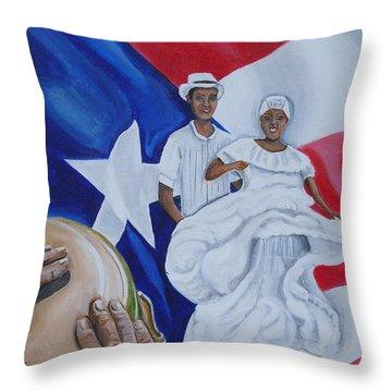 Bomba Throw Pillow by Melissa Torres