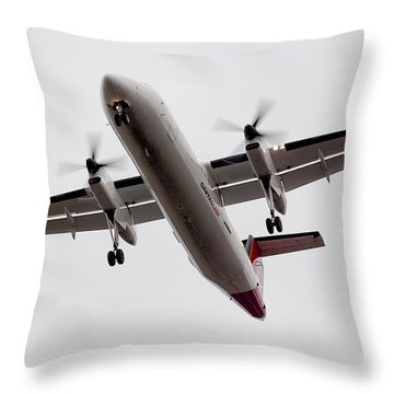 Bombardier Dhc 8 Throw Pillow by Steven Ralser