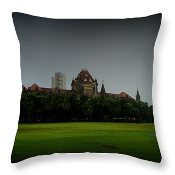 Throw Pillow featuring the photograph Bombay High Court by Salman Ravish