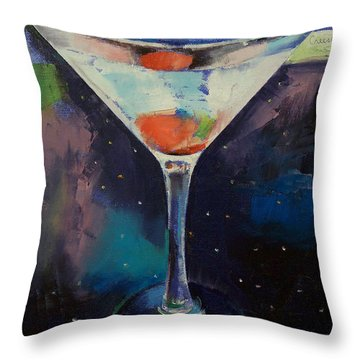 Bombay Sapphire Martini Throw Pillow
