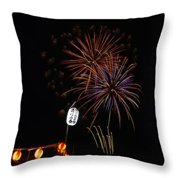 Bon Adori Glow Throw Pillow by John Swartz
