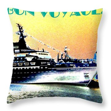 Bon Voyage Throw Pillow by Will Borden