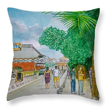 Bonaire Street Throw Pillow