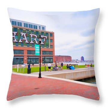 Bond Street Landing Baltimore Maryland Throw Pillow