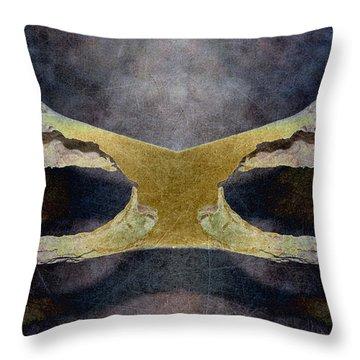 Bone Dance Throw Pillow by WB Johnston