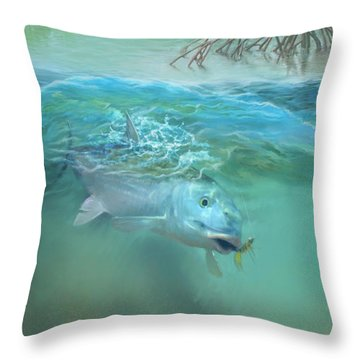 Bone Fish Throw Pillow