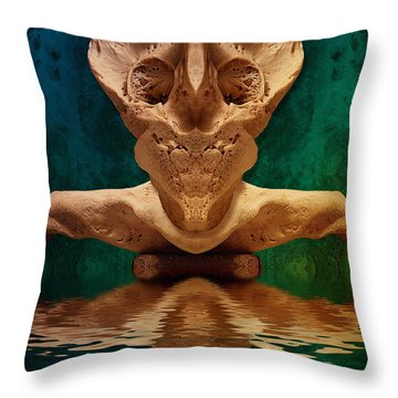 Boneface 7 Throw Pillow by WB Johnston