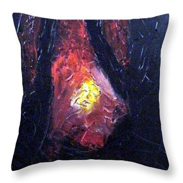 Bonefire Throw Pillow by Sergey Bezhinets