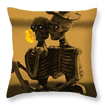 Bones In Love  Throw Pillow by David Dehner