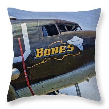 Throw Pillow featuring the photograph Bones by Steven Richardson