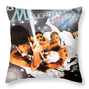 Boney M Night Flight To Venus Throw Pillow by Gina Dsgn