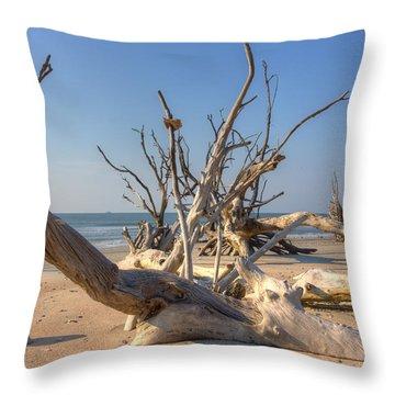 Boneyard Beach Throw Pillow