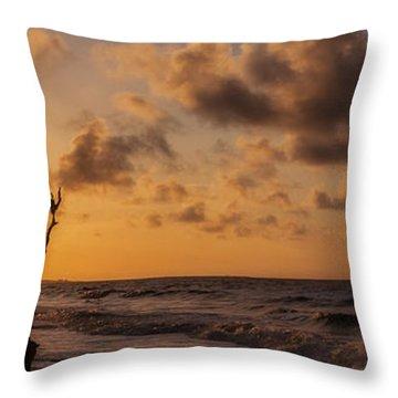 Boneyard Sunrise Throw Pillow
