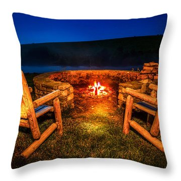 Bonfire Throw Pillow by Alexey Stiop