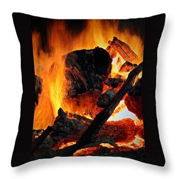 Bonfire  Throw Pillow by Chris Berry