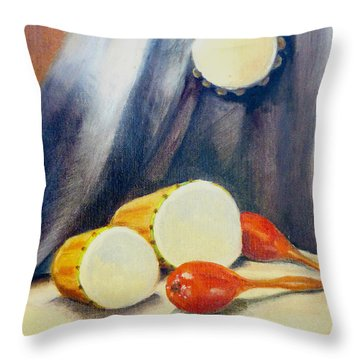 Bongos Throw Pillow