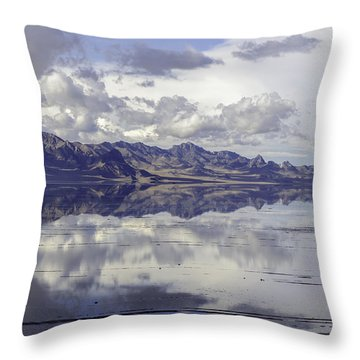 Bonneville Salt Flats Throw Pillow