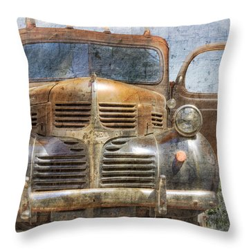 Bonnie And Clyde Throw Pillow by Debra and Dave Vanderlaan