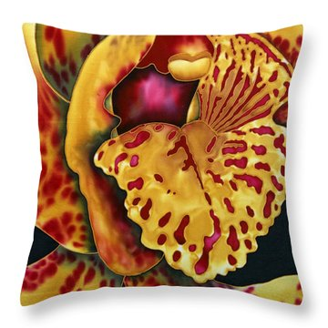 Bonnie Orchid II Throw Pillow by Daniel Jean-Baptiste