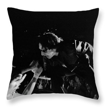 Bono 051 Throw Pillow by Timothy Bischoff