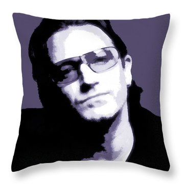 Bono Portrait Throw Pillow by Dan Sproul