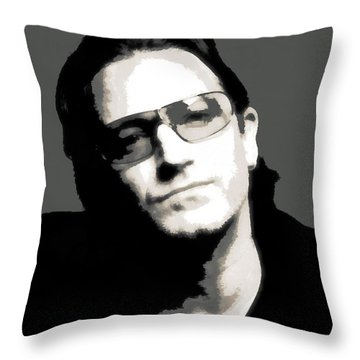 Bono Poster Throw Pillow by Dan Sproul