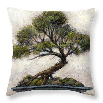 Bonsai Cedar Throw Pillow