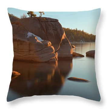 Throw Pillow featuring the photograph Bonsai Rock by Jonathan Nguyen