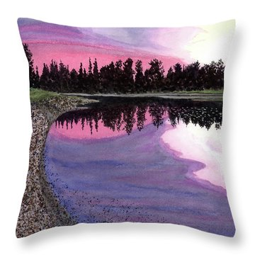 Bonsette's Sunset Throw Pillow