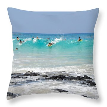 Boogie Up Throw Pillow by Denise Bird