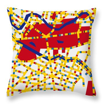Boogie Woogie Berlin Throw Pillow