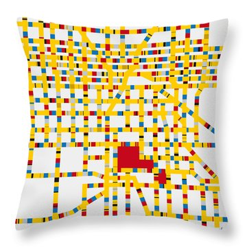 Boogie Woogie Las Vegas Throw Pillow