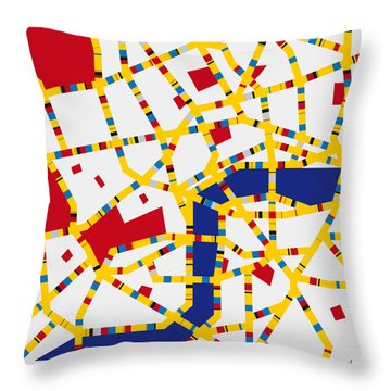 Boogie Woogie London Throw Pillow