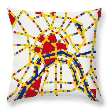 Boogie Woogie Moscow Throw Pillow by Chungkong Art