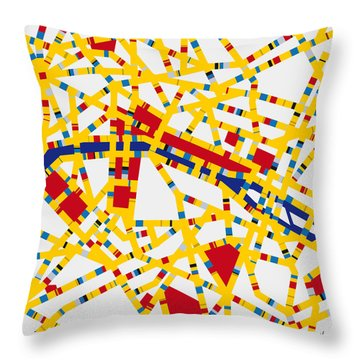 Boogie Woogie Paris Throw Pillow