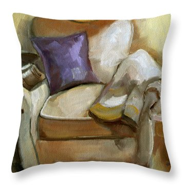 Book Club For One Throw Pillow