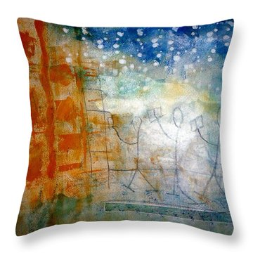 Book Creatures Throw Pillow by Lesley Fletcher