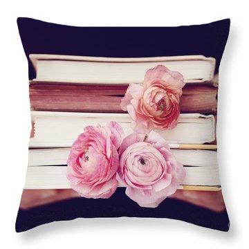 Book Love Throw Pillow by Kim Fearheiley