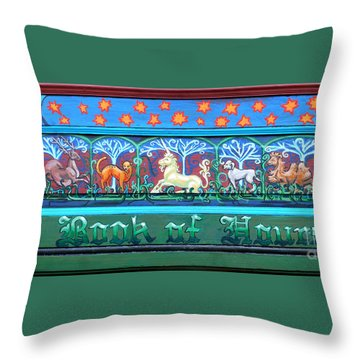 Book Of Hours Throw Pillow by Genevieve Esson
