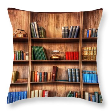 Book Shelf Throw Pillow by Svetlana Sewell