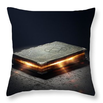 Book With Magic Powers Throw Pillow