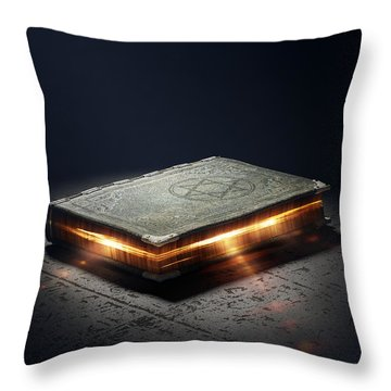 Book With Magic Powers Throw Pillow by Johan Swanepoel