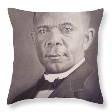 Booker T Washington Throw Pillow