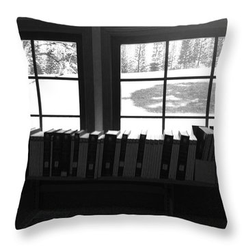 Throw Pillow featuring the photograph Books by Alohi Fujimoto